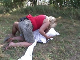 Dummies for adult babies - Adult baby likes his ass poked by his mummys strap-on outdoors