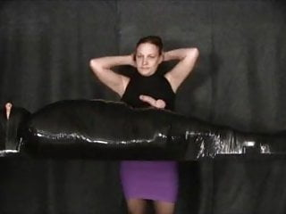 Leg wrapping sex Wrapped in tape cumming