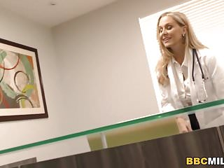 Awful breast surgery - Busty cougar julia ann handles big black cock at the surgery