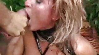 Nasty Dutch Slut Gets Splattered With Load Of Sticky Sperm