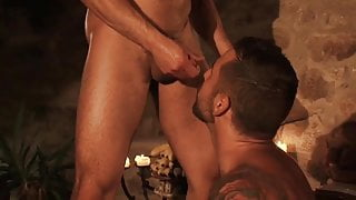 Two Hot Bearded Studs Getting Wet and Wild