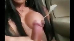 Hot web finds Hot shemale gets awesome handjob