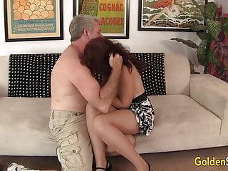 Redhead bounce Mature redhead sable renae bounces on grandpas hard rod