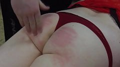 slow motion caning and spanking