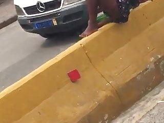 Sperm beggars - Beggar fucking a bottle in public