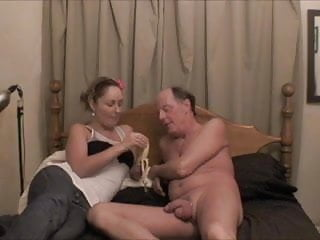 Ladie makes guy cum - Shannon - makes an old pervert guy cum