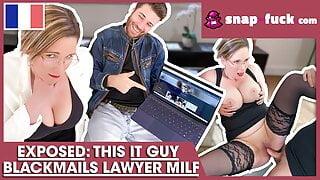 GOTCHA! Watch me fuck the lawyer bitch! SNAP-FUCK.com