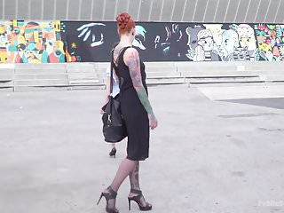 Sluts fucking in public European slut gets tied-up, humiliated, and fucked in public