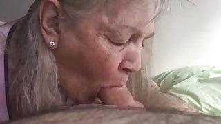 Granny Suck a wide Cock