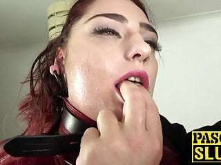Submissive cock slut wife Submissive slut cat collar roughly fucked and dominated