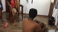 Sri Lanka mistress hard caning