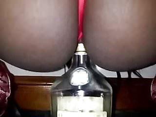 Orgasm spirit entity - Slut takes bottle of spirits up her pussy
