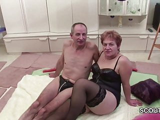 Grandpa fucks grandma porn - German old grandpa and grandma in first time porn casting