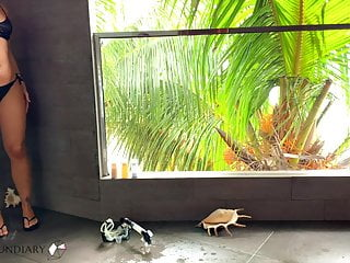 Xxx island fucking Romantic shower fuck on paradise island - projectsexdiary
