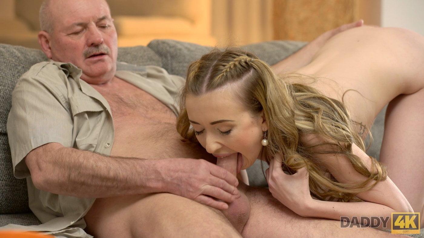 Naughty girl fucks dad