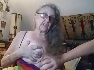 Gay grandmother pillow - Visiting grandmother