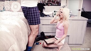 Finally she gets drilled by her stepdad