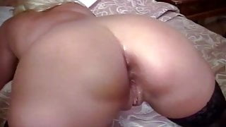 Beautiful British blonde fucked in the ass