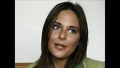 Świetna casting i pierwsza sesja analna ze śliczną brunetką