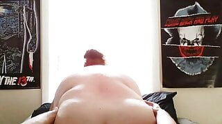 Bbw riding my face hard and fast until squirting