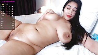 Juicy and sexy Asian shows off her naked body