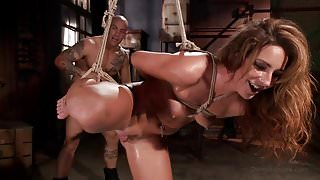 Big Booty in bondage and squirting orgasms.