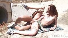 Chicas Loca - Hot outdoor fuck with tattooed Spanish babe