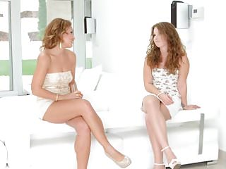 Sylvia bourdon pussy talk Sylvia lauren and bunny babe in pre party surprise lesbian
