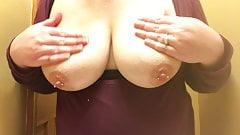 Drunk Again Rubbing Lotion On My Big Perfect Pierced Titties