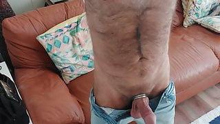 Big bulge, big cock, furry all over