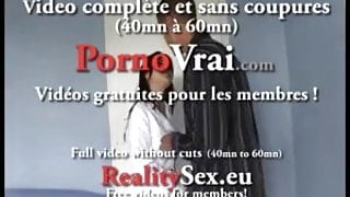 Accidental creampie for a casting! French amateur