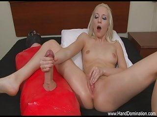 Big cock pic post - Savage post orgasm attack on a defenseless penis