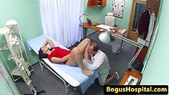 Pussylicked euro nurse dickriding doctor