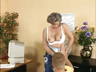 German mature female reaming mens ass Mature women and young men