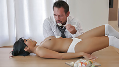 Asian Teen Geisha Gets Fucked Hard By Client