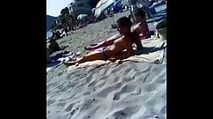 topless french TEENS on mallorca beach