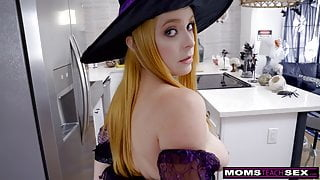 MTS - Big Dick Trick Or Treat For Step Mom And Step Sis
