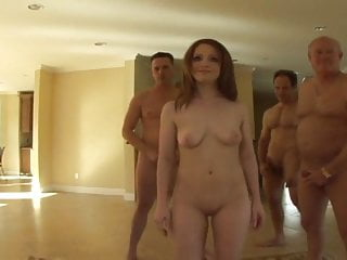 Naked girls and old men - Young girl dirty old men jeking on her