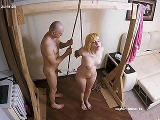 Homemade bondage videos Sexy blonde takes bondage fuck on torture machine real cam