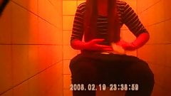 caught brunette changing her bra in toilets hidden spy sazz