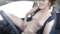 exhibitionist masturbation on a car wash