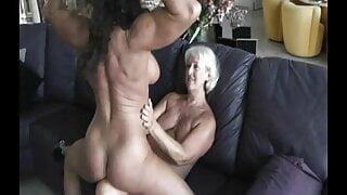Muscular lesbian worship