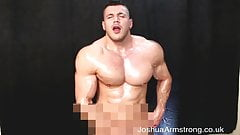 Big horny muscle cums