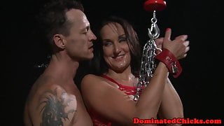 Fishnet bitch dominated and used