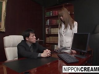 Nude office hotties - Asian office hottie gets gangbanged by her colleagues