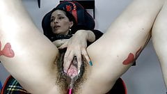 Hairy Gaping Pussy Squirts again Part One