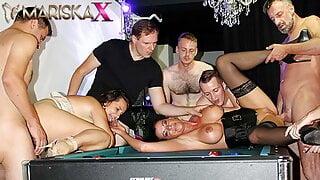 MARISKAX – Olga Love and Dacada gangbanged by six guys