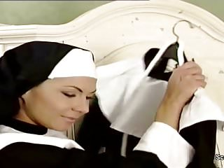 Adult nun movies - German nun seduce to fuck by prister in classic porn movie