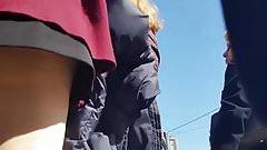 spy upskirt 512 slow motion nylon woman romanian
