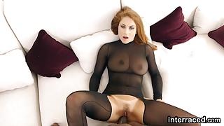 Passionate babe Roberta Gemma loves a big black cock